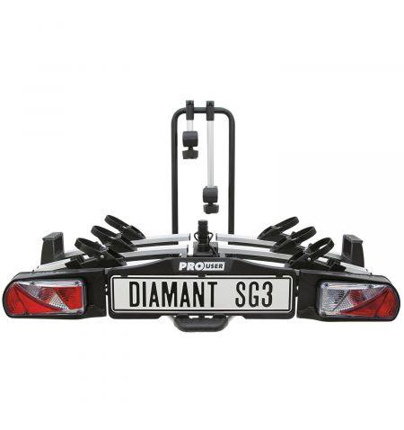 Nosič na tažné zařízení na 3 kola / elektrokola Pro User Diamant SG3 - sklopný skládací