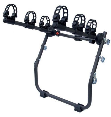 Nosič na 3 jízdní kola na zadní páté dveře M-Way Hornet - pozinkovaná ocel vhodný pro Fatbike a kola s širokými plášti