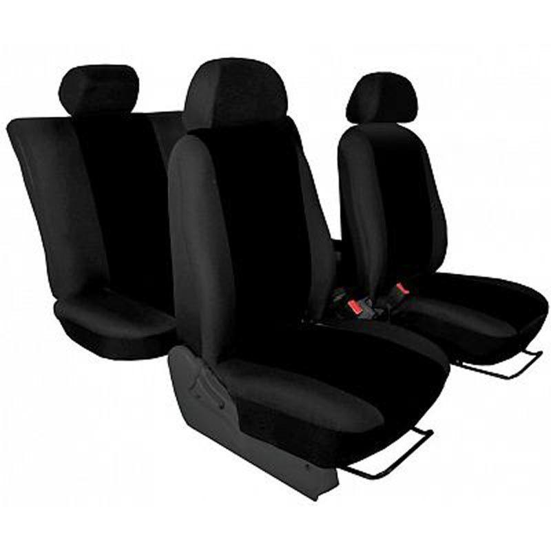 Autopotahy přesné potahy na sedadla Škoda Fabia I Sedan Hatchback Combi 99-01 - design Torino černá výroba ČR