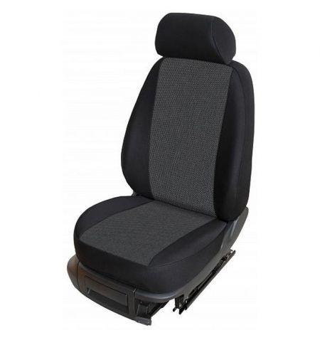 Autopotahy přesné potahy na sedadla Škoda Fabia I Sedan Hatchback Combi 02-07 - design Torino F výroba ČR