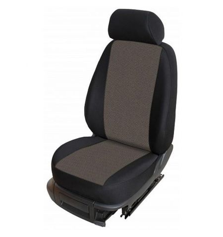 Autopotahy přesné potahy na sedadla Škoda Fabia II Hatchback Combi 12-14 - design Torino E výroba ČR
