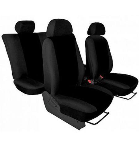 Autopotahy přesné potahy na sedadla Volkswagen T6 1+2 15- - design Torino černá výroba ČR