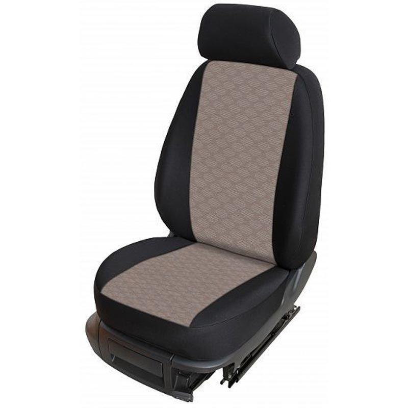 Autopotahy přesné potahy na sedadla Volkswagen T6 1+2 15- - design Torino D výroba ČR