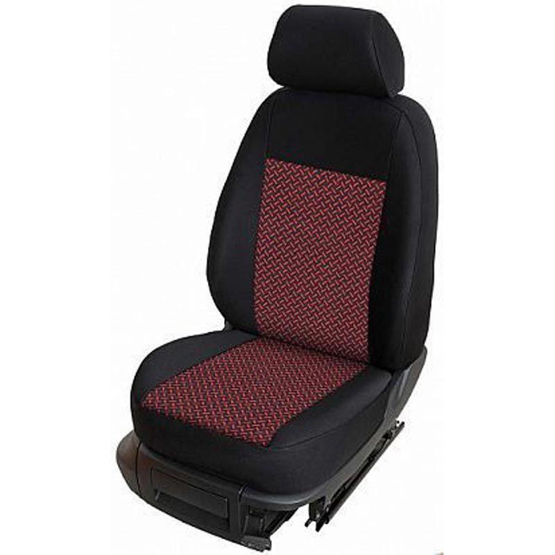 Autopotahy přesné potahy na sedadla Volkswagen T6 1+2 15- - design Prato B výroba ČR