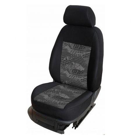 Autopotahy přesné potahy na sedadla Volkswagen T6 1+2 15- - design Prato C výroba ČR