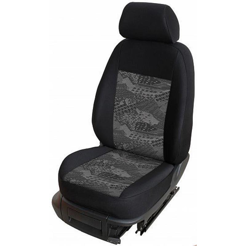 Autopotahy přesné potahy na sedadla Renault Trafic 1+2 02-15 - design Prato C výroba ČR