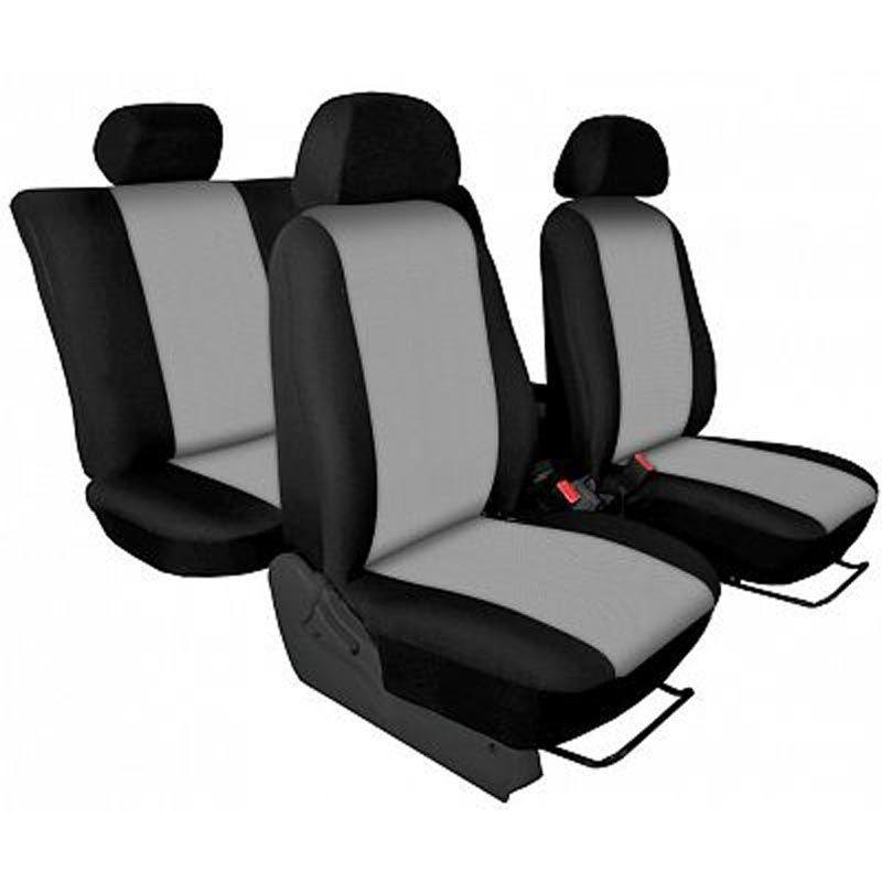 Autopotahy přesné potahy na sedadla Renault Trafic 1+2 15- - design Torino světle šedá výroba ČR