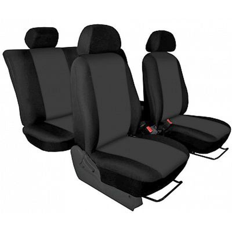 Autopotahy přesné potahy na sedadla Peugeot 2008 13- - design Torino tmavě šedá výroba ČR