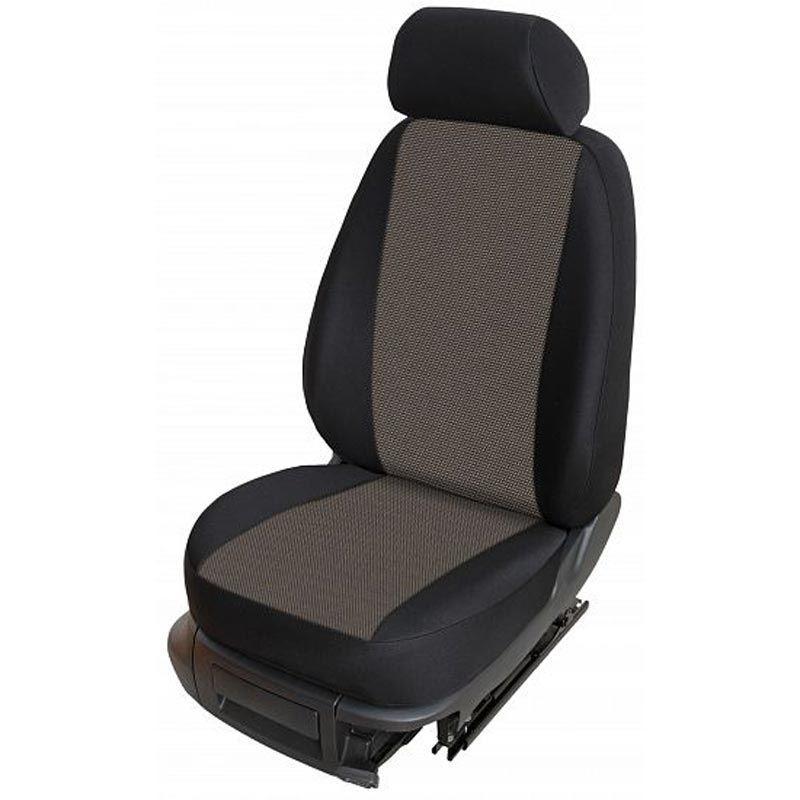 Autopotahy přesné potahy na sedadla Peugeot 208 12- - design Torino E výroba ČR