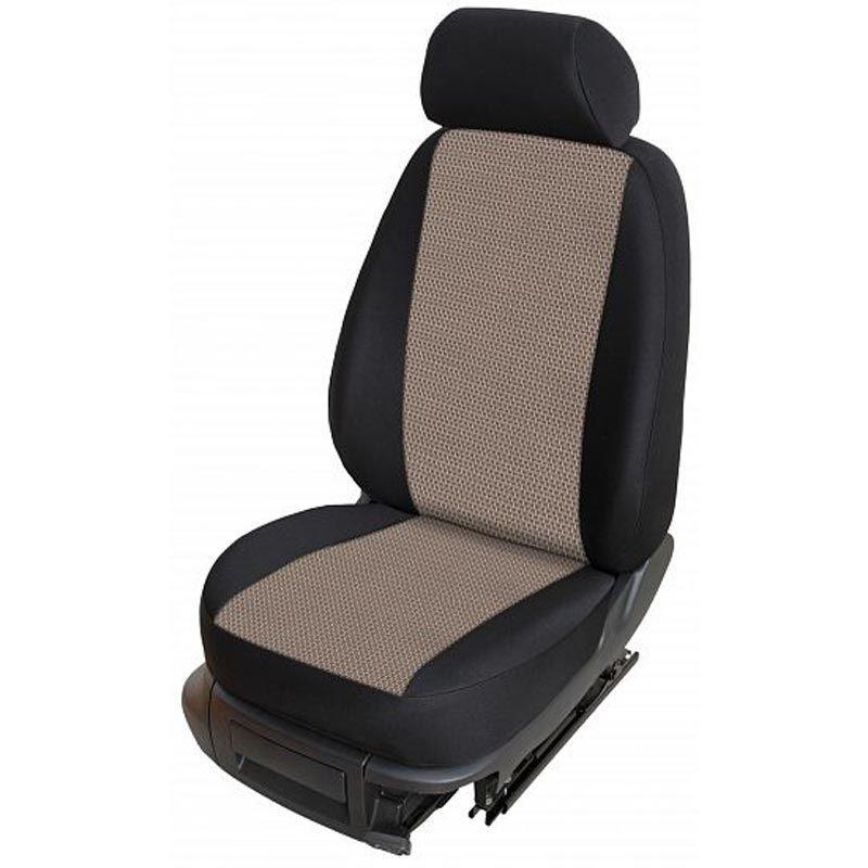 Autopotahy přesné potahy na sedadla Kia Carens 06-13 - design Torino B výroba ČR