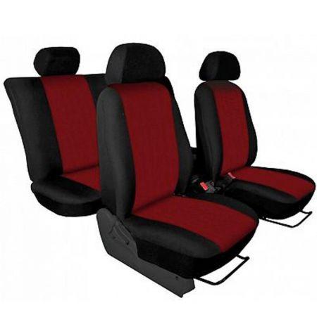 Autopotahy přesné potahy na sedadla Chevrolet Aveo 05-11 - design Torino červená výroba ČR