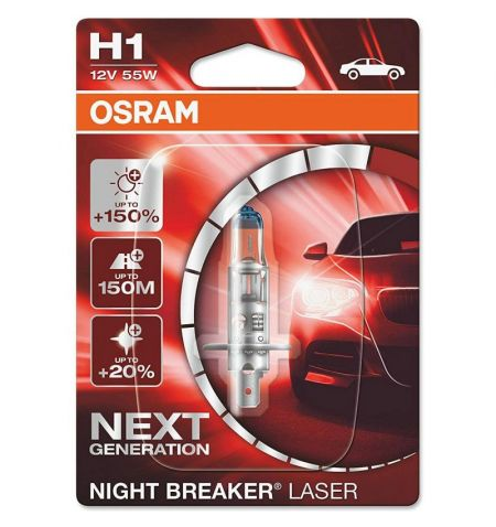 Autožárovka Osram Night Breaker Laser Next Generation H1 12V 55W P14.5s - blister 1ks