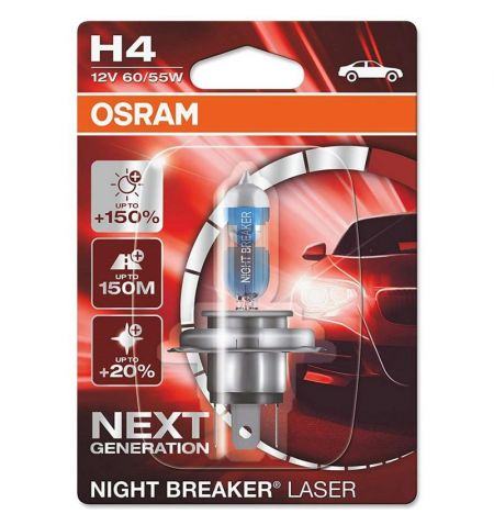 Autožárovka Osram Night Breaker Laser Next Generation H4 12V 60 55W P43t - blister 1ks