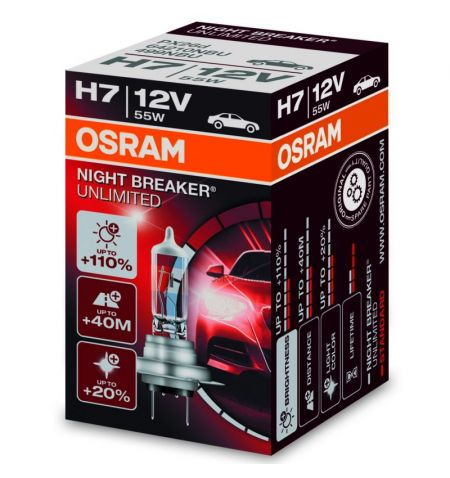 Autožárovka Osram Night Breaker Unlimited H7 12V 55W PX26d - krabička 1ks