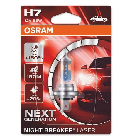 Autožárovka Osram Night Breaker Laser Next Generation H7 12V 55W PX26d - blister 1ks
