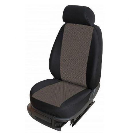 Autopotahy přesné na sedadla Opel Vivaro B 2014-2019 sedadla 1-2 prostřední integrovaná hlavová opěrka - design Torino E