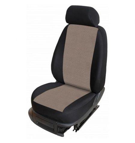 Autopotahy přesné na sedadla Opel Vivaro B 2014-2019 sedadla 1-2 prostřední integrovaná hlavová opěrka - design Torino B