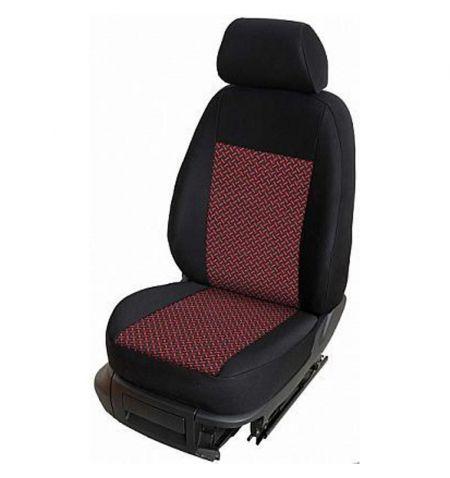 Autopotahy přesné na sedadla Opel Vivaro B 2014-2019 sedadla 1-2 prostřední integrovaná hlavová opěrka - design Prato B