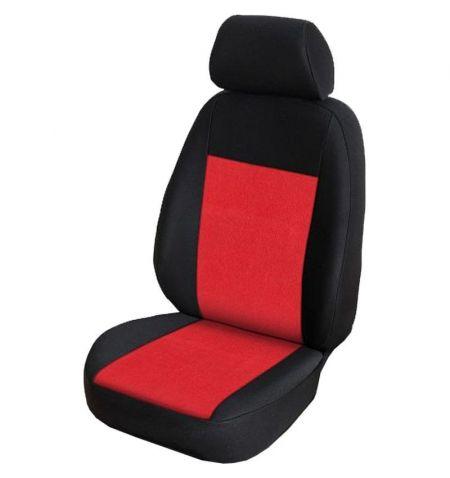Autopotahy přesné na sedadla Opel Vivaro B 2014-2019 sedadla 1-2 prostřední integrovaná hlavová opěrka - design Prato E