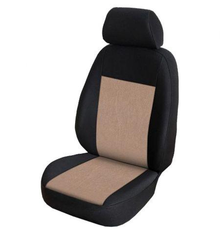 Autopotahy přesné na sedadla Opel Vivaro B 2014-2019 sedadla 1-2 prostřední integrovaná hlavová opěrka - design Prato F