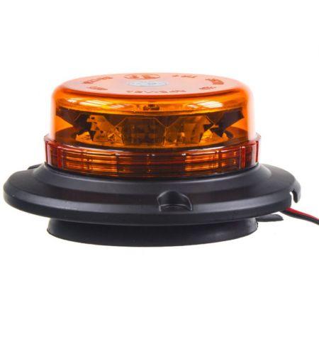 Maják LED diodový - oranžový 12V 24V 12x 3W LED magnetické uchycení ECE R65 R10