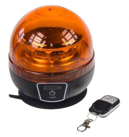 Maják LED diodový s vestavěným akumulátorem - oranžový dálkové ovládání 12x 3W LED magnetické uchycení ECE R65