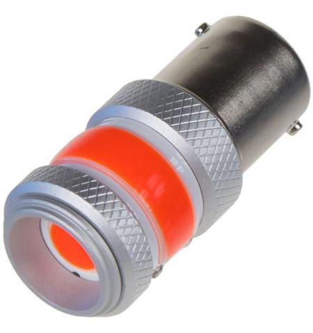 Žárovka LED diodová 9-60V BA15S červená COB Chip-on-Board 360 stupňů 12W