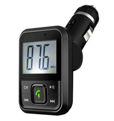 Hands Free modulátor FM přehrávač Bluetooth MP3 USB SD AUX dálkové ovládání
