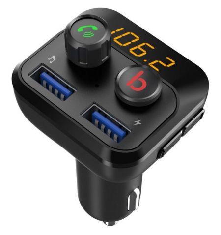 Hands Free modulátor FM přehrávač Bluetooth MP3 USB SD Bass Booster  dálkové ovládání