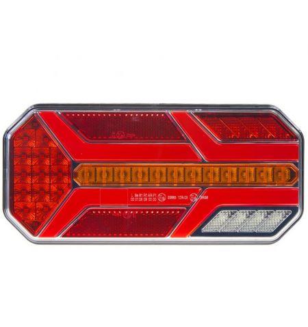 Světlo zadní sdružené LED diodové 1ks 12 24V zadní s dynamickými blinkry - levé