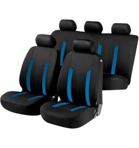 Autopotahy sedadel na celé vozidlo s bočními airbagy v sedadlech - Aroso sada 9 dílů - modré černé