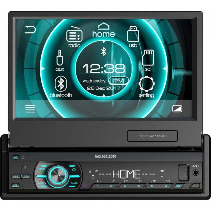 Autorádio - Bluetooth Handsfree USB SD-slot výsuvný 7-palcový displej odnímatelný panel 4x40W dálkové ovládání