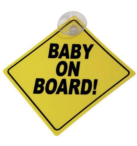Tabulka označení vozidla s přísavkou - Baby on Board Dítě v autě