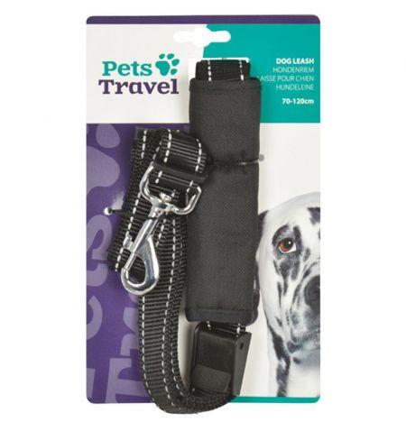 Vodítko na psa reflexní s přezkou - do držáku bezpečnostních pásů v autě
