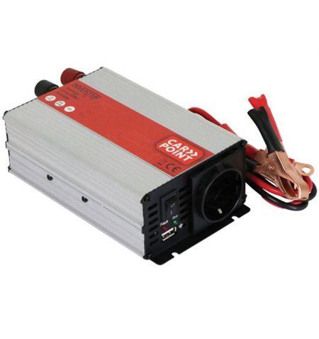 Měnič napětí 12V DC na 230V 50Hz 600W AC - s připojením na autobaterii