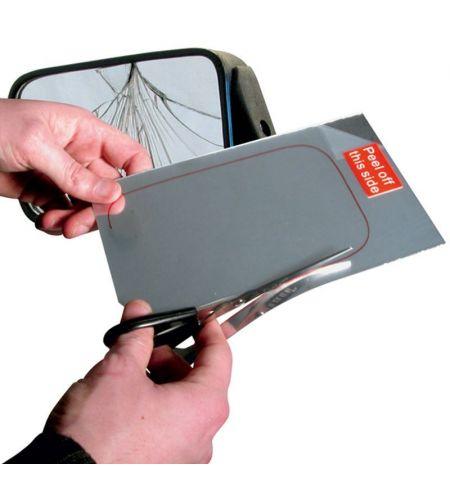 Fólie zrcadlová samolepící vnější na rychlou opravu zrcátka 12.5x20cm