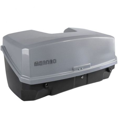 Zadní box na nosič na tažné zařízení Menabo Nekkar - objem 300l uzamykací šedý