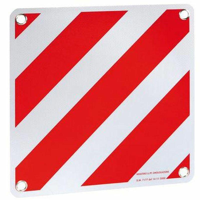 Reflexní tabule cedule 50x50cm normovaná E - aluminium červenobílá Itálie Španělsko