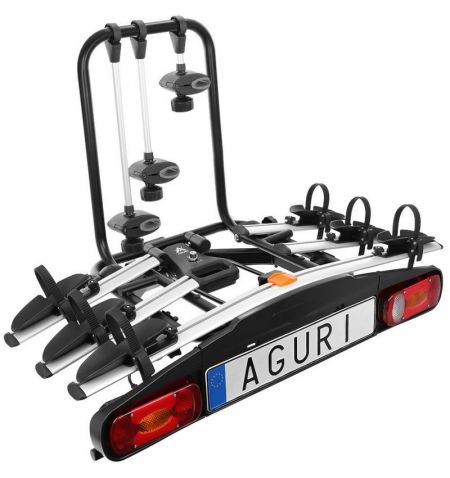 Nosič na tažné zařízení na 3 kola elektrokola Aguri Active Bike 3 Silver - sklopný