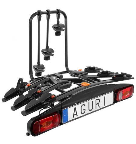 Nosič na tažné zařízení na 3 kola elektrokola Aguri Active Bike 3 Black - sklopný