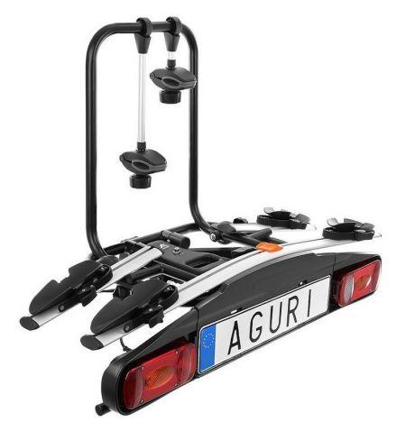 Nosič na tažné zařízení na 2 kola elektrokola Aguri Active Bike 2 Silver - sklopný