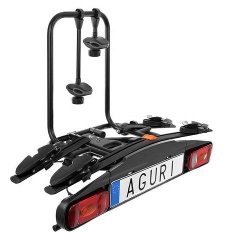 Nosič na tažné zařízení na 2 kola elektrokola Aguri Active Bike 2 Black - sklopný
