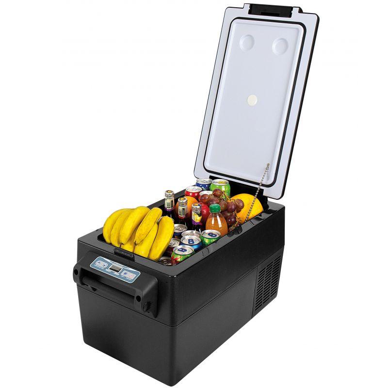 Autochladnička mraznička lednice kompresorová chladící box do auta Aroso 12V 24V 230V 32l -20C