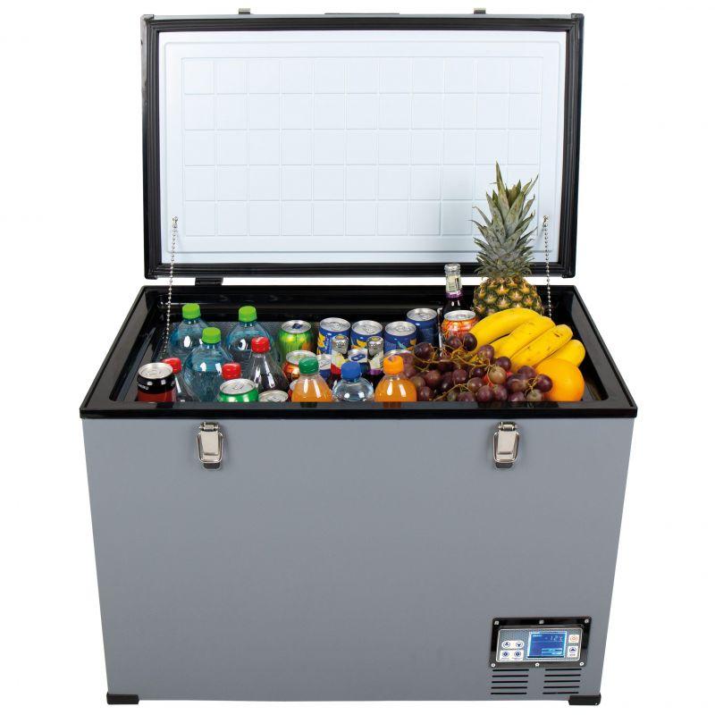 Autochladnička mraznička lednice kompresorová chladící box do auta Aroso 12V 24V 230V 95l -18C