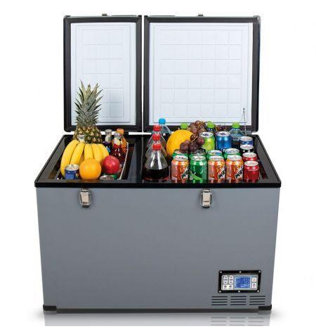 Autochladnička mraznička lednice kompresorová chladící box do auta Aroso 12V 24V 230V 100l -18C