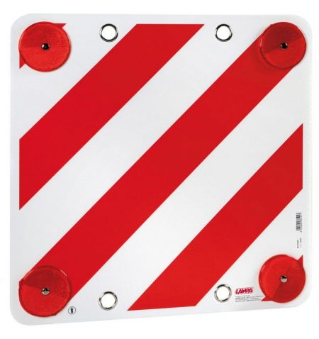 Reflexní tabule cedule Lampa 50x50cm - plastová červenobílá