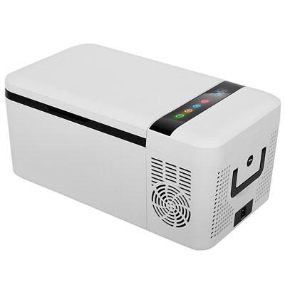 Autochladnička mraznička lednice kompresorová chladící box do auta Aroso 12V 24V 230V 15l - USB výstup pro nabíjení