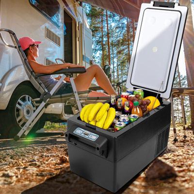 Autochladnička mraznička lednice kompresorová chladící box do auta Aroso 12V 24V 230V 32l - chlazení potravin a nápojů