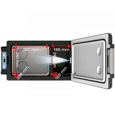Autochladnička mraznička lednice kompresorová chladící box do auta Aroso 12V 24V 230V 32l - velký vnitřní objem