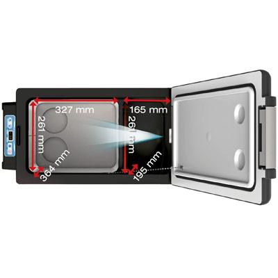 Autochladnička mraznička lednice kompresorová chladící box do auta Aroso 12V 24V 230V 42l - velký vnitřní objem